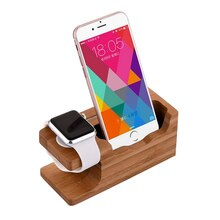 Smartphone Charging Dock Station For Iphone X 10 8 7 7 Plus 6 6S Plus 5S SE Wooden Stand Holder with