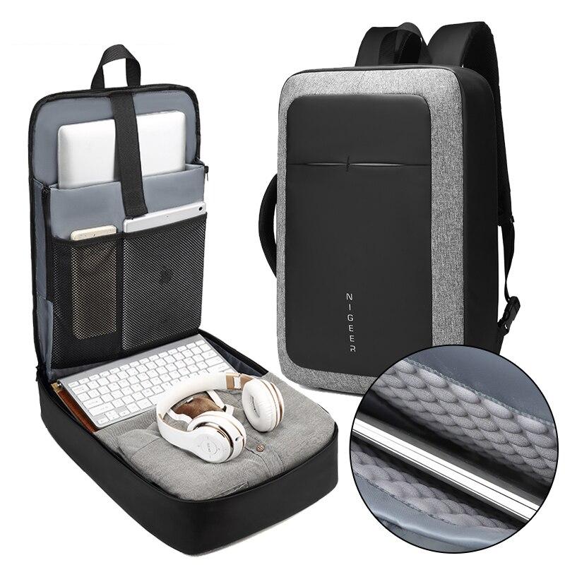 Mochila para ordenador portátil de 17 pulgadas de negocios para hombre, mochila con carga USB repelente de agua, mochila multifunción, bolsa de viaje a la moda, mochilas para hombre, bolsos