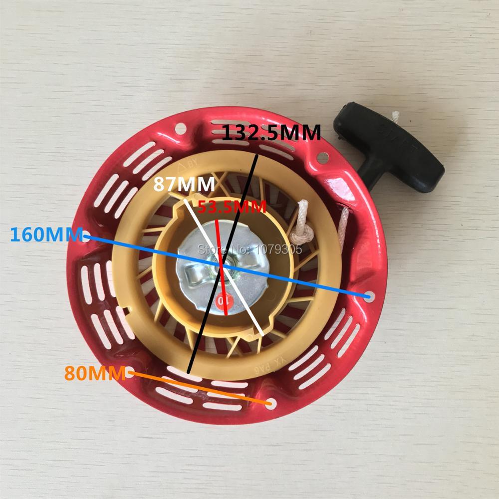 Recoil תנע להתחיל תיקון חלק מתאים הונדה GX160 GX200 סיני 168F 5.5HP 6.5HP גנרטור מנוע