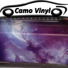 Film demballage en vinyle sans bulles dair   film brillant et étonnant de la galaxie étoilée, style de voiture