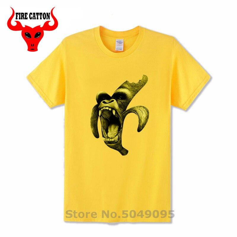 2019New Diseño de Moda de Verano Divertido anana orangután 3D camiseta cómic gorila banana camiseta hombres parodia humor orang camiseta de banana