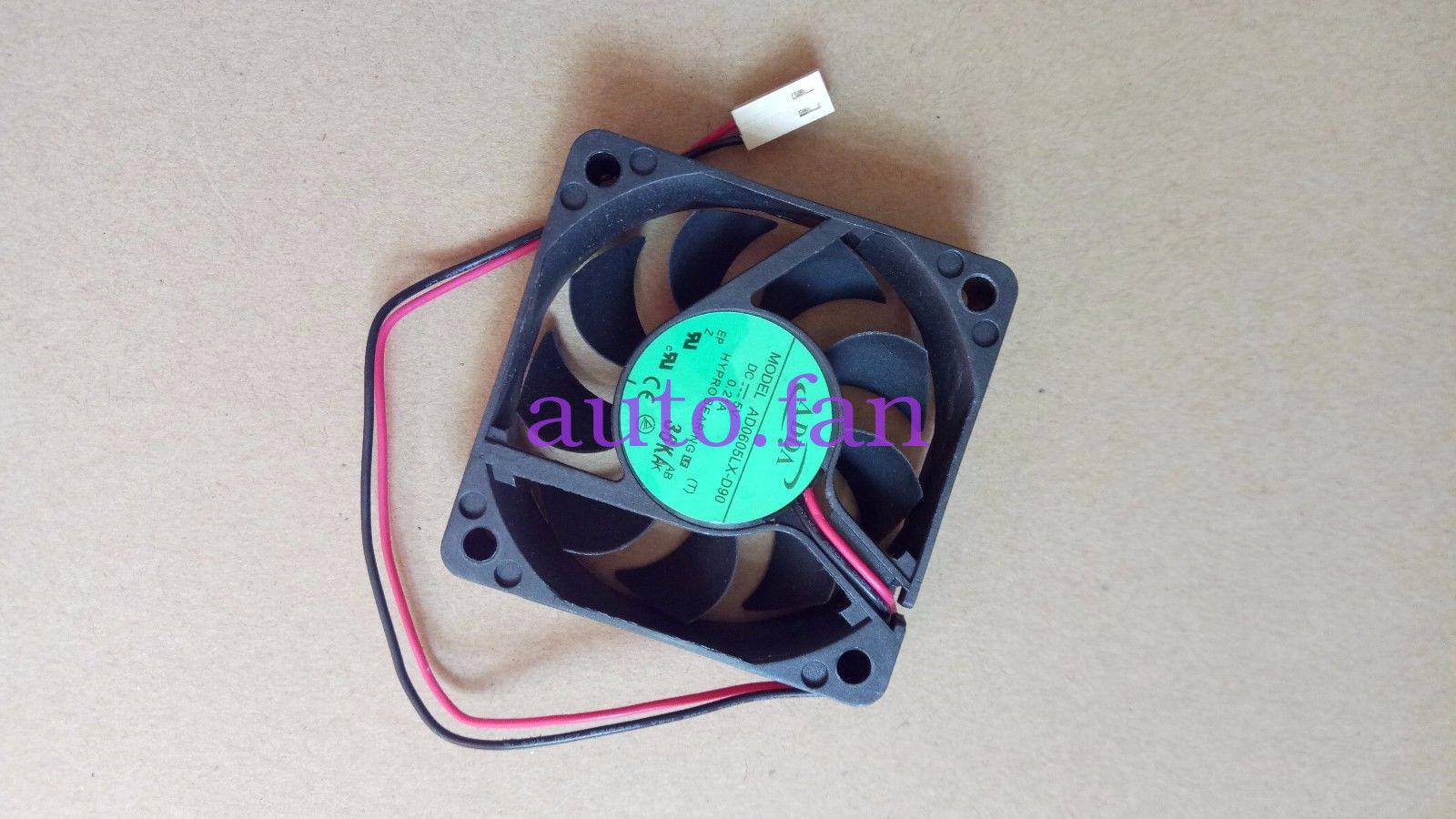 Caja de ordenador PC ventilador para ADDA AD0605LX-D90 T DC 5 V 0.21A 2-cable 2-pin conector 70 ventilador de refrigeración cuadrado de servidor de 60x60x15mm