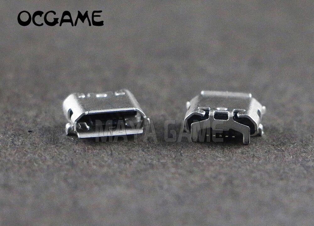 OCGAME 10 pcs Poder Joystick Porta do Conector do Carregador Tomada curto pin Porta usb Mini Usb cabo de Dados de Carga Para PS4 Sem Fio controlador
