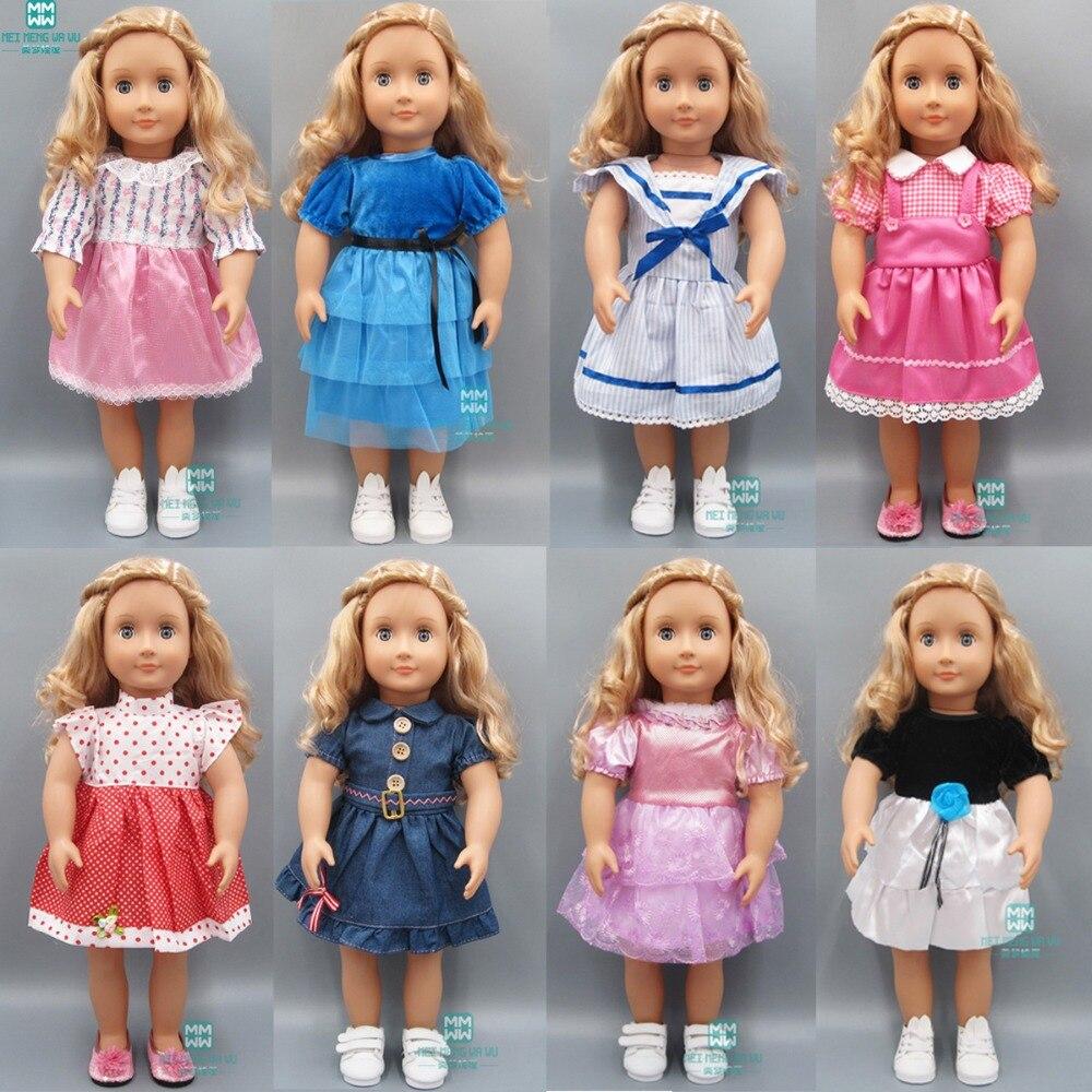 Puppe kleidung für 45cm Amerikanischen puppe zubehör puppe 15 stil casual kleider Casual sport jacke