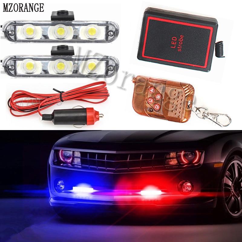 MZORANGE, luz estroboscópica remota inalámbrica, luz LED de emergencia para vehículo, motocicleta, coche, camión de remolque, luces intermitentes de advertencia, parrilla de policía