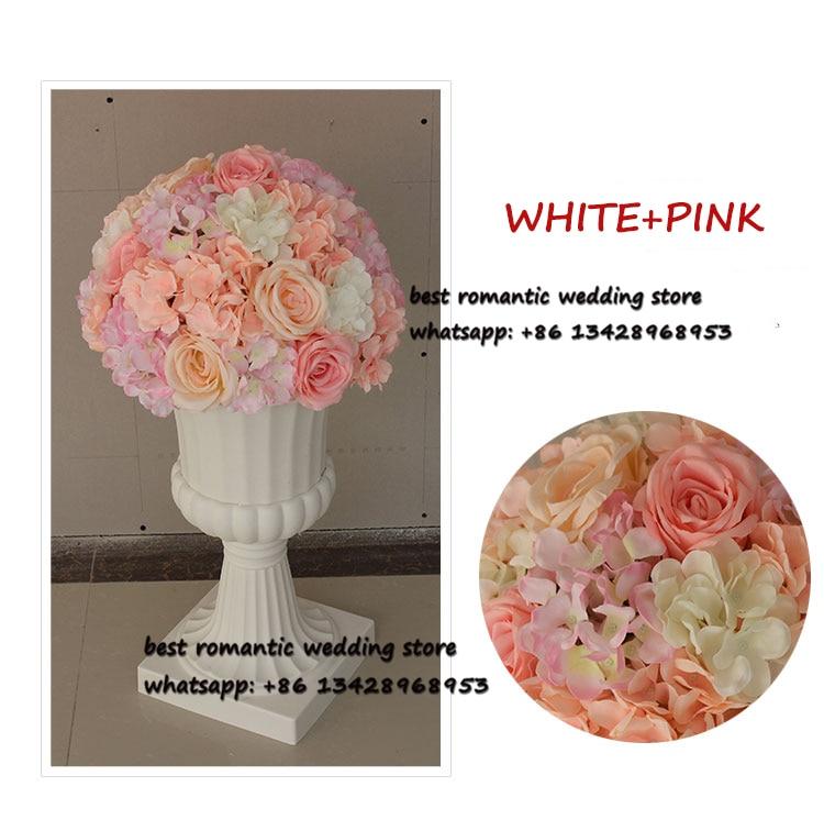 Bola de flor grande rosa e Hortensia flor MESA CENTRO DE MESA bolas para la decoración de la boda