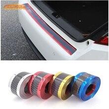 Carcardo 3D bande de protection en Fiber de carbone bande de pare-chocs de voiture protecteur Chrome seuil de porte autocollant caoutchouc accessoires extérieurs