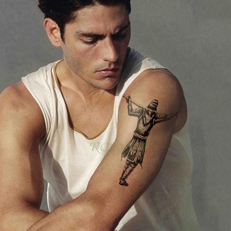 Tatuaje temporal a prueba de agua Pegatina el Rey Mono tatuaje falso Flash tatuaje pierna brazo espalda gran tamaño arte corporal para hombres chica mujeres