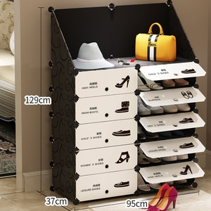 Multilayer Nonwoven Fabric Detachable Shoe Rack Dustproof Shoe Cabinet Home Standing Holder Shoes Organizer Space-saving Stand