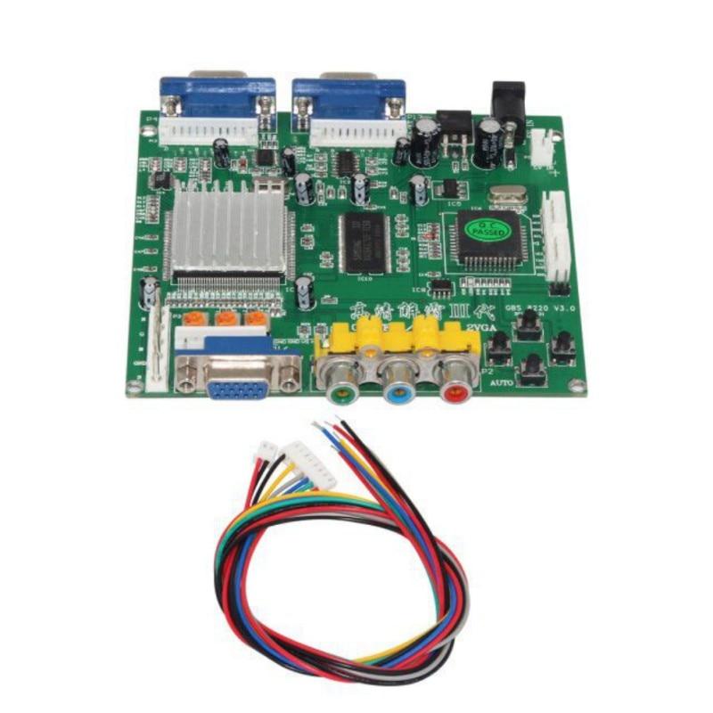 RGBS para VGA HD Video Converter Board GBS8220 Dual Adaptador de Saída CGA/EGA/VGA/Componente YUV Sinal entrada