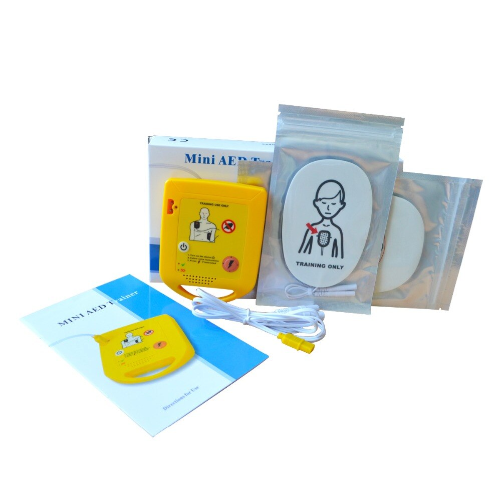 CE Approved Hospital Automatic External Training AED Machine For School First Aid Teaching Emergency Rescue Device With Pads
