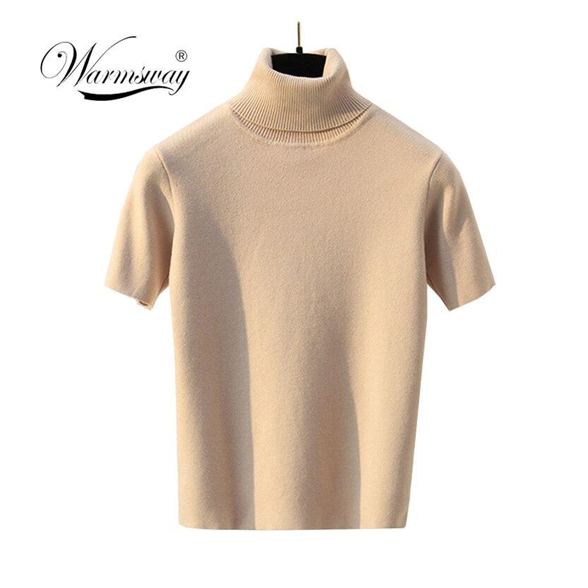 Sexy de malha superior tees feminino gola alta preto curto camisa manga curta magro topos tanque do vintage feminino 2020 B-129