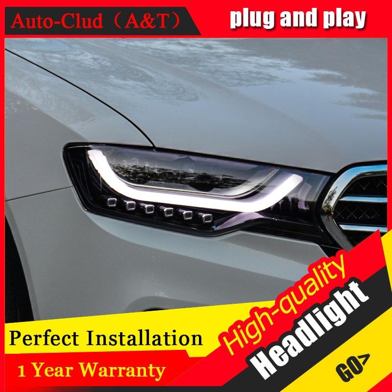 Auto Clud Car Styling para haval H6 Coupe faros para H6 faro delantero bi-xenon lente doble haz HID KIT