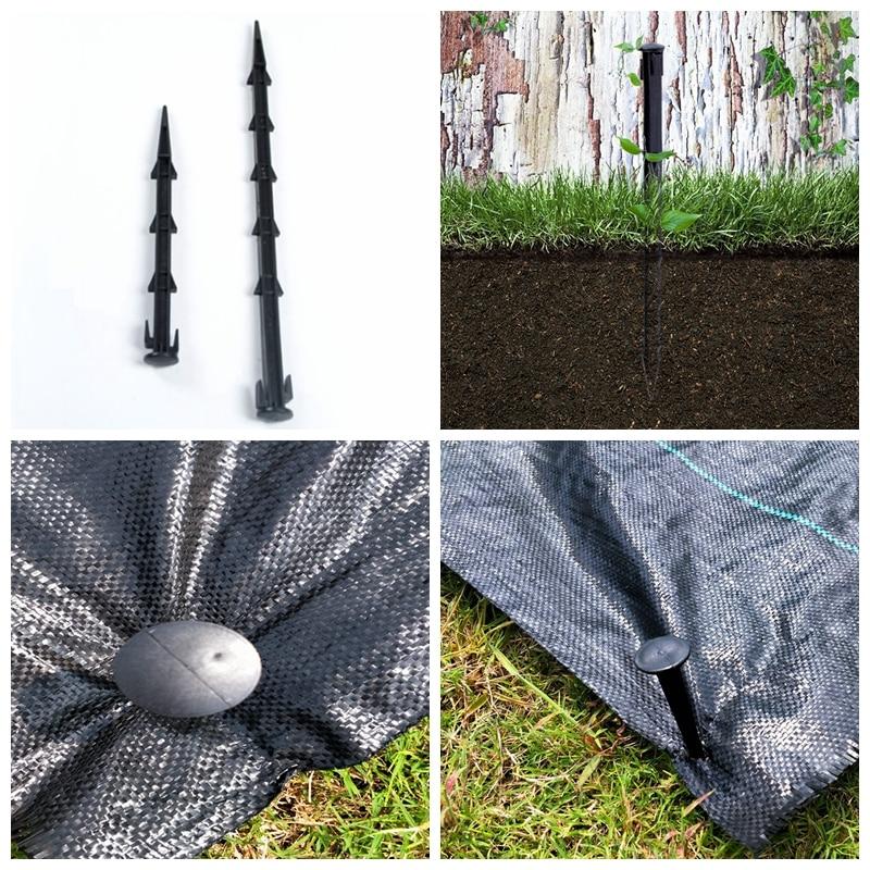 20pcs 27cm 36cm Garden Ground Nail Mulch Sunshade Net Anti-weed Ground Cloth Peg Fly Net Pest Control Plastic Film Fixed Pegs