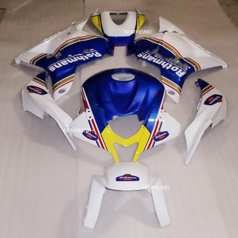 Bagues de moto ABS personnalisées   Kit dinjection, adapté à Honda CBR 600RR f5 2009- 2012 bleu/blanc CBR600RR 09 10 11 12, accessoires