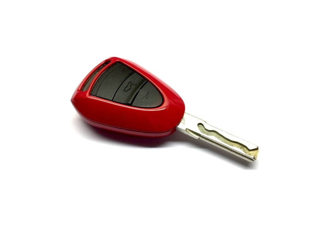Acessório do carro caso chave do carro plástico keyless remoto chave fob flip para porsche cabeça preta chave remota