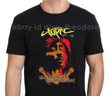 Tupac Shakur Live By The Gun Die By The Gun Men'S Black T-Shirt Cotton Summer Tees Printed O-Neck Streetwear Order T Shirts
