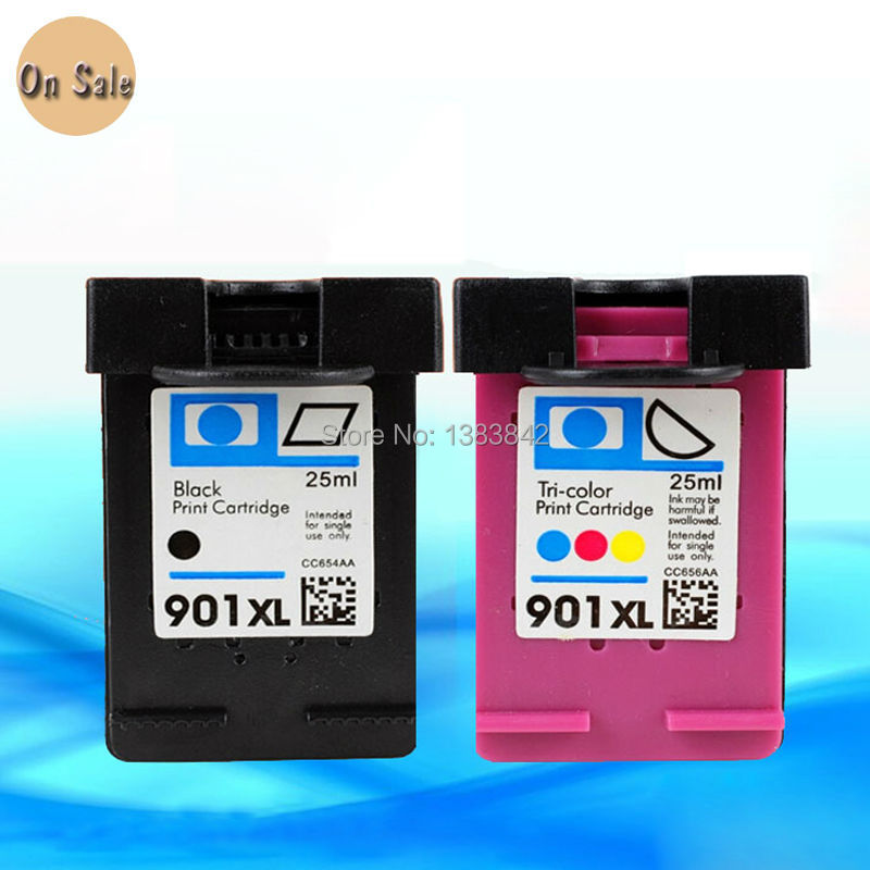 Hisaint para hp 901 cartuchos de tinta para hp 901 xl para hp Officejet 901 4500 J4580 J4585 J4624 J4640 J4660 J4680 J4500 J4524 J4530