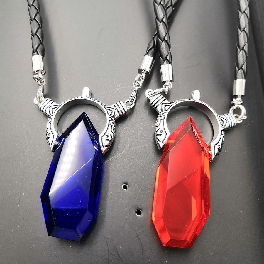 DMC Dante Vergil-قلادة قلادة من الكريستال للرجال ، مجوهرات للرجال ، هدية عيد الحب للأولاد ، صديقها