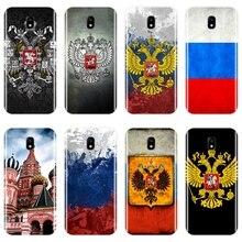Bandeira russa caso de telefone para samsung galaxy j2 j3 j5 j7 2016 2017 prime macio silicone volta capa para samsung j4 j6 j8 plus 2018