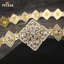 Ceinture de luxe couleur or, ceinture en métal pour femmes, bijoux longue et ajustable, pour robe de mariage, caftan, offre spéciale