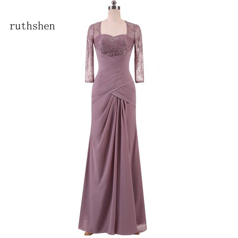 Ruthshen-Vestido De encaje De manga larga para Madre De la Novia, Vestido...