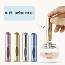 5ml Mini Portatile Riutilizzabile Dello Spruzzo di Profumo Bottiglia di Alluminio della Bottiglia Dello Spruzzo Dellatomizzatore Contenitore di Viaggi Bottiglia di Profumo
