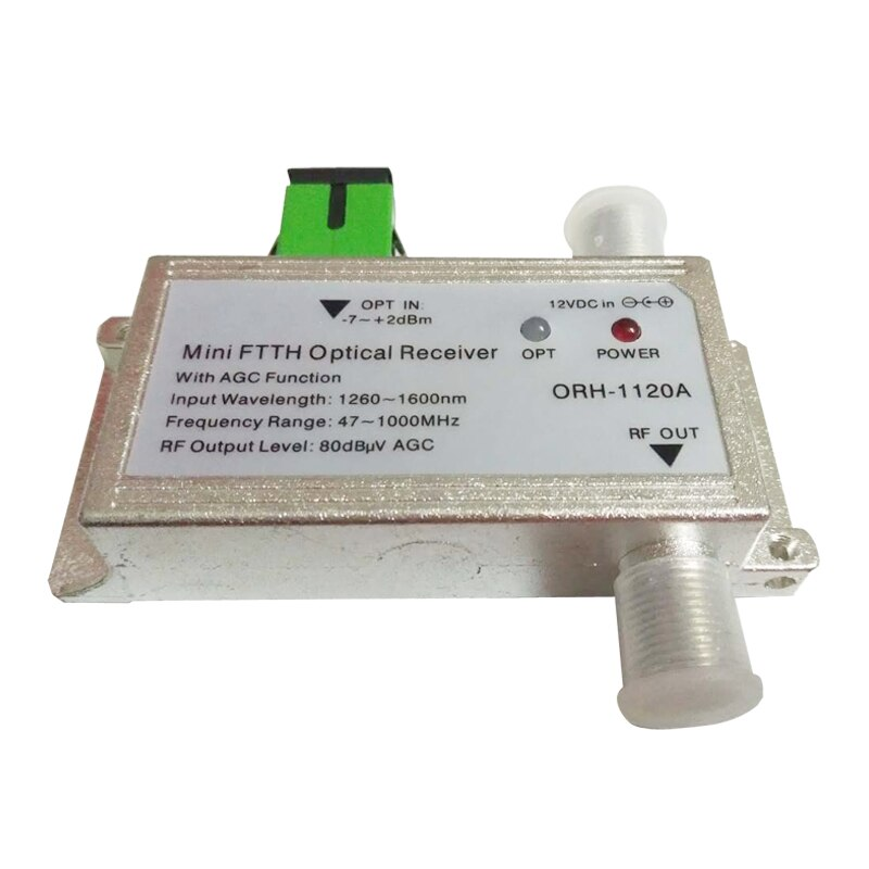 CATV FTTH Optical node / Receiver 1310nm and active receiver AGC Model ORH-1120A 47-1000MHz, same function ORH-1020A but no WDM