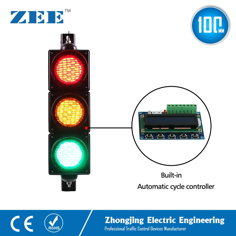 Low Cost Built-in Automatic Cycle Traffic Light Controller LED Traffic Light Simplified Traffic Controller LED Traffic Signals недорого