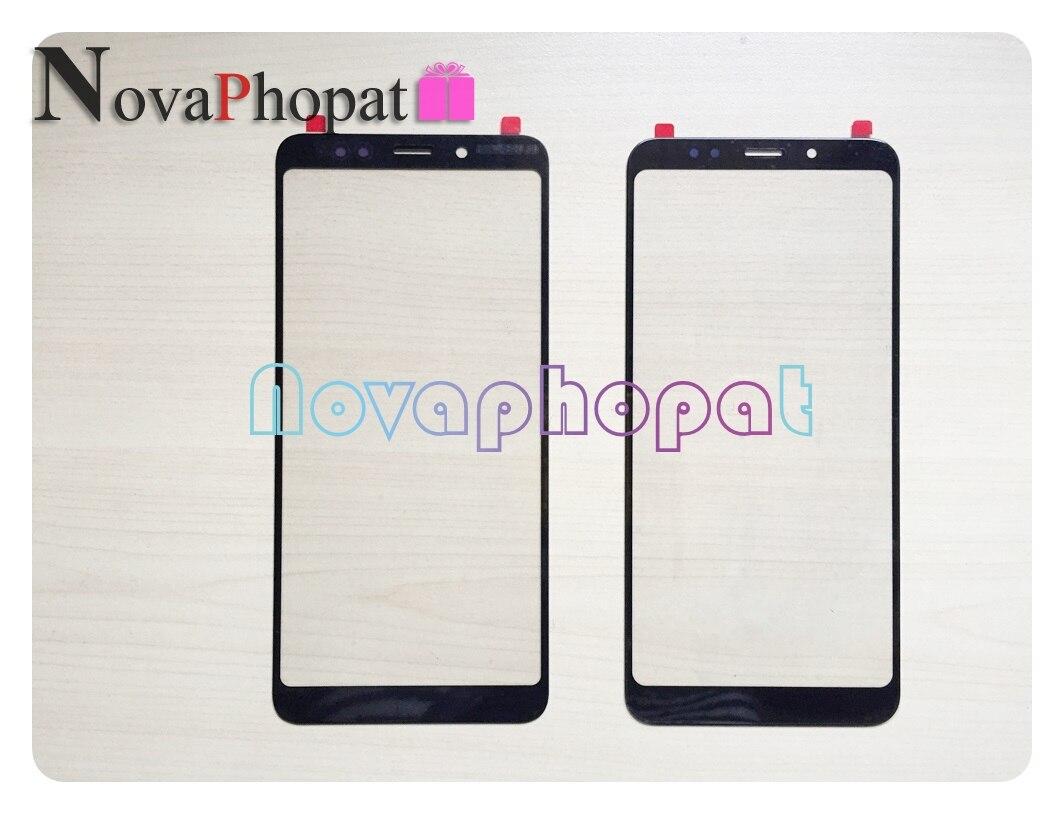 Novaphopat Frontale LCD Touch Esterno Pannello In Vetro Per Xiaomi redmi 5/redmi 5 Plus/Nota 5 pro di Vetro lente Sostituzione Dello Schermo + traccia