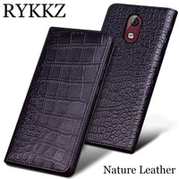 rykkz genuine leather phone case for nokia 3 1 ultra thin flip cover handmake leather for nokia 3 1 for nokia x5 case cover