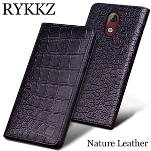 RYKKZ Genuine Leather Phone Case For Nokia 3.1 Ultra Thin Flip Cover Handmake Leather For Nokia 3.1 For Nokia X5 Case Cover