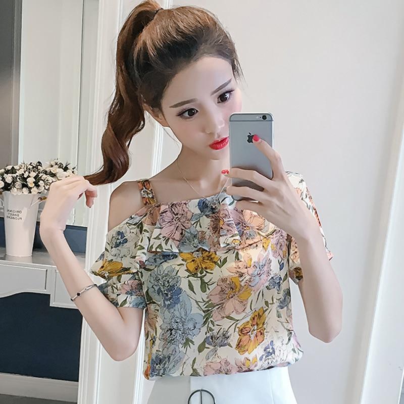 Missoov 디자이너 Hipster Blusas 패션 브랜드 여름 여성 블라우스 세련된 스타일의 셔츠 Shoulder Ruffles Tops Vetement Femme