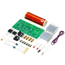 Kit électronique bricolage 15W bricolage   Mini bobine Tesla haute pression, enceinte Plasma résistance Film métallique, 15 V 2A, 1 ensemble avec boule en acier inoxydable