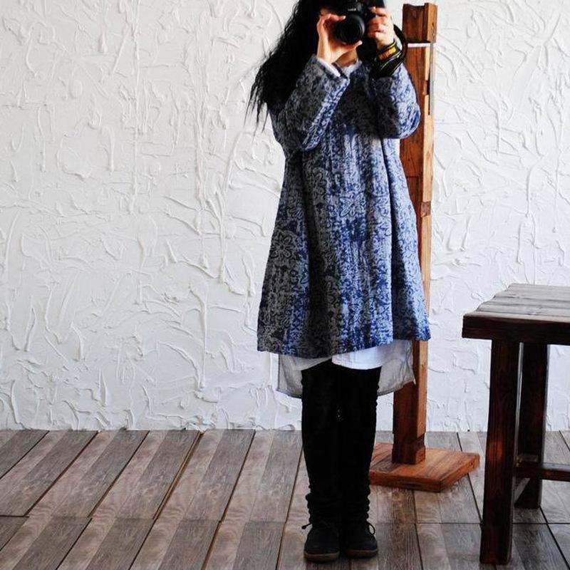 Spring Cotton Linen Shirt Women Vestidos 2020 Literature Print Women Blouses Long Sleeve Ladies Tops Irregular Camisa Feminina