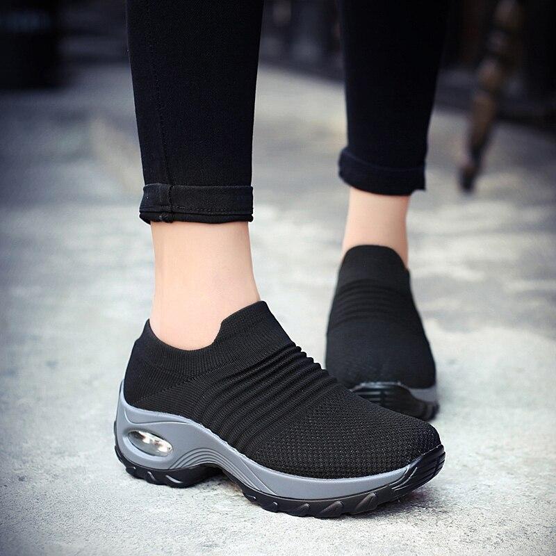 2019 Respirável Senhoras Slipon Sapatos Zapatos De Mujer Sapatilhas Mulheres Casuais Krasovki Schoenen Vrouw Scarpe Donna Sapato Feminino