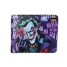 Fashion Animation Joker Wallets Casual Leather Gift Purse with Zipper Dollar Price Money Bags Men Women Standard Short Wallet