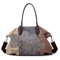 Canvas Graffiti Patchwork Shoulder Sports Gym Bag for Women Fitness Letter Printing Handbag Crossbody Bag Travel Duffle Bag