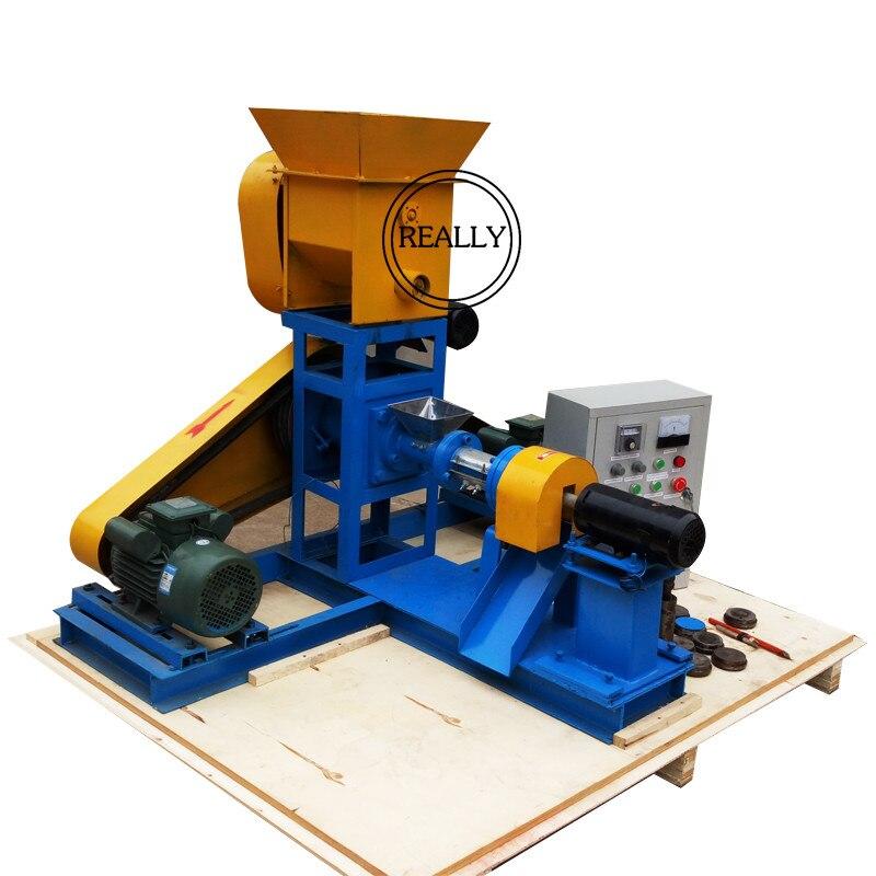 Máquina de fabricación de pellets de alimentación de peces flotantes de 150 kg/h, máquina de alimentación de peces flotante y que se hunde, máquina para alimentar aves de corral