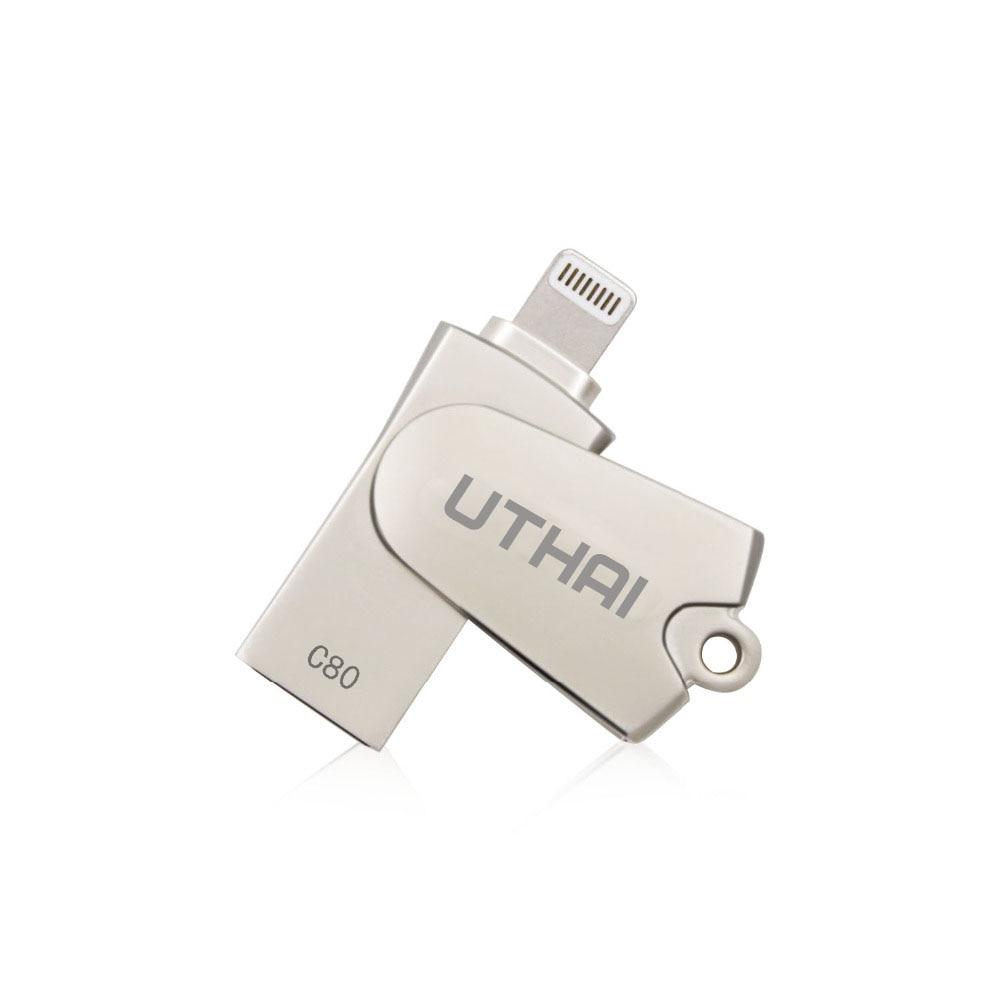 UTHAI C80 Lightning Micro SD/TF OTG lector de tarjeta de memoria USB 2,0 Mini lector de tarjetas para el iPhone 6/7 /8 Plus iPod iPad OTG lector de tarjeta