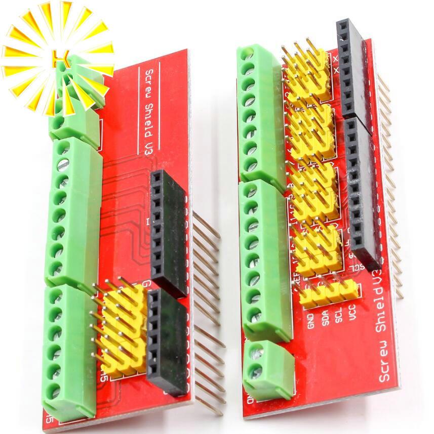 Tornillo escudo V1 terminal V3 placa de expansión es compatible UNO R3 medios interactivos de modelado para conector arduino