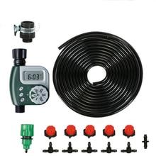 Système de goutte à goutte Micro Irrigation bricolage   Minuterie darrosage automatique des plantes, Kits de tuyaux de jardin avec goutteur réglable