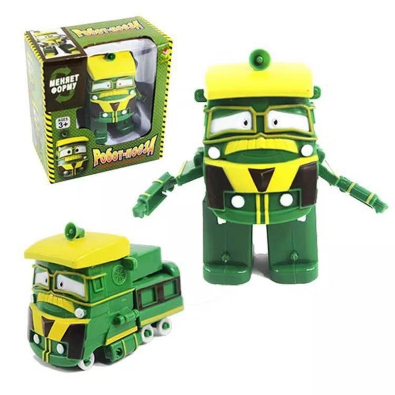 NEW 6pcs/set Robot Trains Transformation Kay Alf Dynamic Train Family Deformation Train toys for children Action Figure Toys
