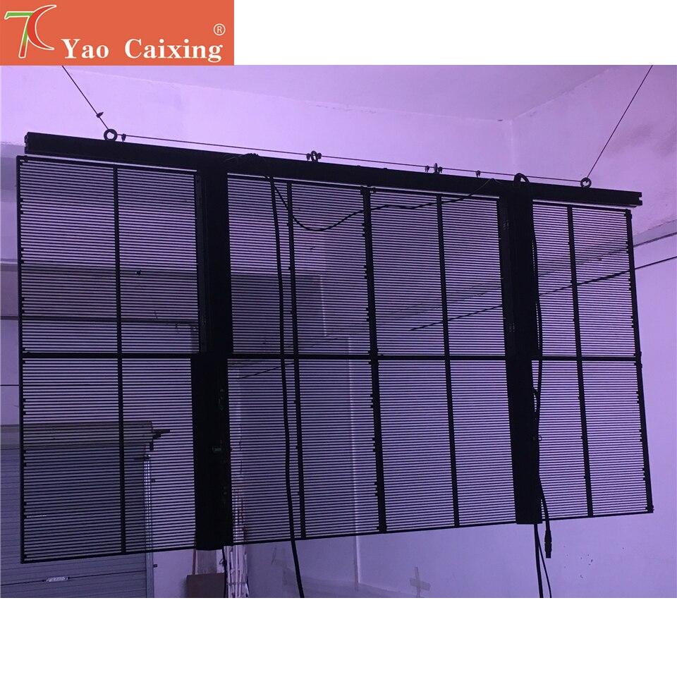 5500cd high brightness P3.91x7.81 store shop glass window advertising transparent led display screen