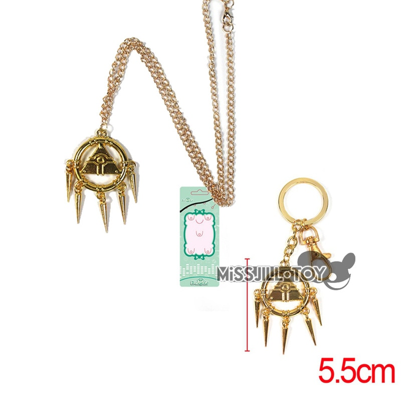 Fashion pendant YuGiOh Cosplay Yu-Gi-Oh Yami Bakura Ryo Millennium Wheel Wisdom Yugioh Pendant Necklace / keychain Golden