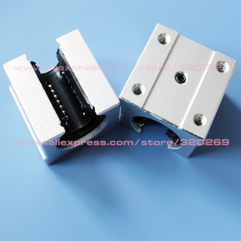 4pcs SBR10UU SBR12UU SBR13UU SBR16UU SBR20UU SBR25uu SBR30UU Linear Ball Bearing Block CNC Router linear guide 3D