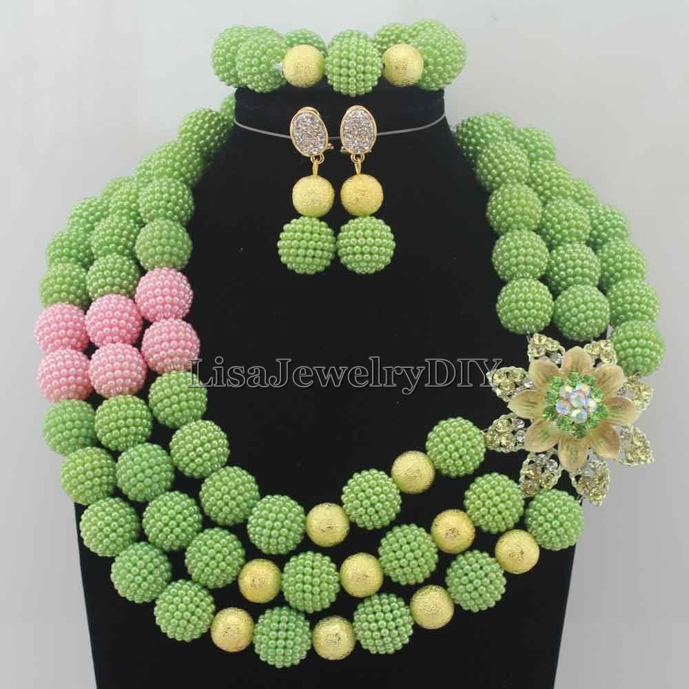 Набор ювелирных изделий из страз, Классический женский комплект ювелирных изделий, ожерелье nigeria HD7134