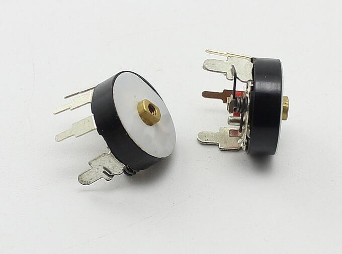 RV12MM vertical con interruptor RV12 B10K B50K interruptor de volumen 10K 50K Radio potenciómetro x 100 Uds
