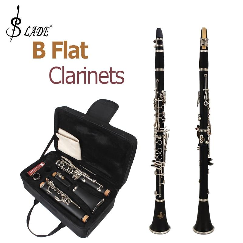 Slade LADE último diseño europeo estudiantes negros Banda B clarinetes planos + 10 cañas