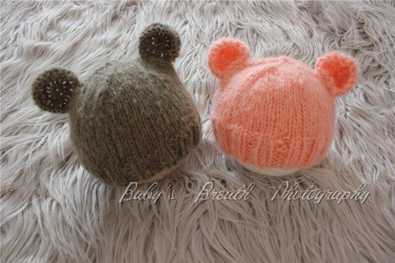 Sombrero de oso de bebé sombrero de oso recién nacido